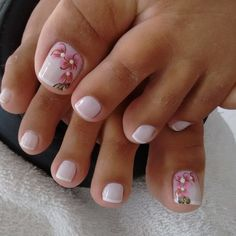 Ideas For Fails Design Summer Gel Red Pedicure Designs, Pedicure Nail Art, Toe Nail Designs, Toe Nail Art, Pretty Toe Nails, Cute Toe Nails, Love Nails, Kathy Nails, Nail Time