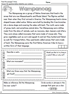 Wampanoag close read