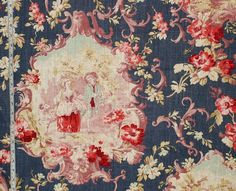 French fabric blue toile de Jouy country from Brick House Fabric: Novelty Fabric