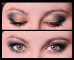 Merle Norman Eyeshadows: Golddigger and Charcoal Green