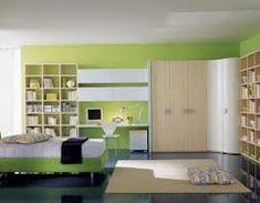 Znalezione obrazy dla zapytania yellow green 1 wall study room