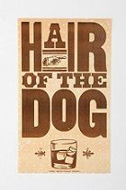 Hatch Show Print Hair of the Dog Art Print  #UrbanOutfitters
