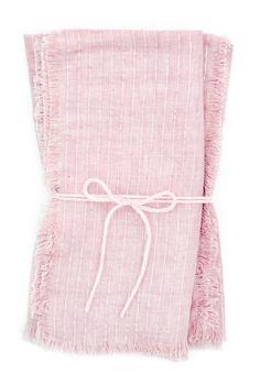 Shimmerstripe Linen Napkin Set (I love a pink napkin) #napkins