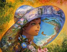 """Hat of Timeless Places 2"" par Josephine Wall"