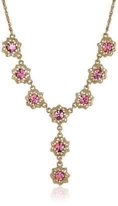 1928 Jewelry Rose Gold Amy Flower Dangle Earrings 1928 Jewelry