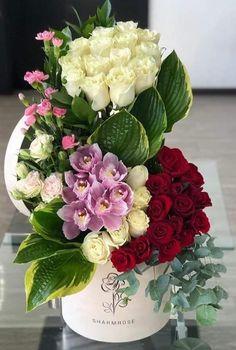 Basket Flower Arrangements, Tropical Flower Arrangements, Tropical Flowers, Fresh Flowers, Wedding Alter Decorations, Flower Decorations, Grafting Plants, Unique Flowers, Flower Boxes