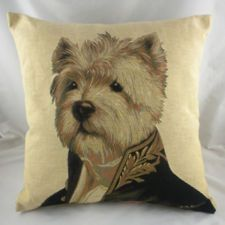 Westie West Highland Terrier Dog Puppy Thierry Poncelet Tapestry Cushion. WANT SO BAD!!!
