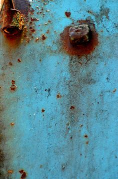 Blue Rust Abstract by MY PINK SOAPBOX, via Flickr