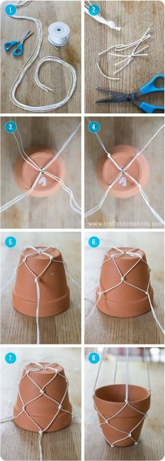 build epic string rack to suspend your flower pots