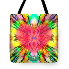 "444 Loves Vibration Tote Bag 18"" x 18"" by Barbara Tristan"