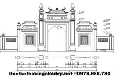 Chinese Architecture, Ancient Architecture, Background Drawing, Chinese Style, Taj Mahal, Vietnam, Floor Plans, How To Plan, Building