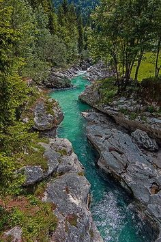 Soca river, Slovenia-would love to float that! Places Around The World, Oh The Places You'll Go, Places To Travel, Places To Visit, Around The Worlds, Beautiful World, Beautiful Places, Landscape Photography, Nature Photography