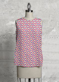 Very Cheap Price Printed Racerback Top - Colours of Kaleido 34 by VIDA VIDA Pictures Cheap Price XOTuR9