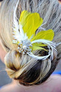 pretty fascinator pin, not so pretty skunk hair