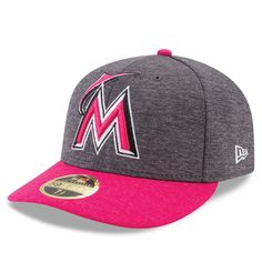 d7ba0816c Men s Miami Marlins New Era Graphite Pink Mother s Day Low Profile 59FIFTY  Fitted Hat