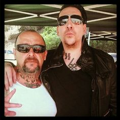Marilyn Manson from the set of Sons Of Anarchy