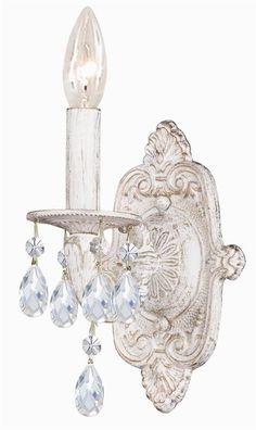 1 Light Crystal Wall Sconce [ID 789093] #Crystorama #Traditional