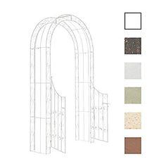metall rosenbogen mit tor spalier rankgitter gartent r gartentor rankhilfe garten ideen. Black Bedroom Furniture Sets. Home Design Ideas