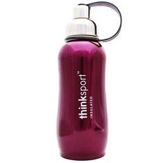 Thinksport Insulated Sports Bottle - 25oz(750ml) - Metallic Purple