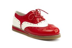 Lola Ramona Cecilia Wingtip Shoes in Red