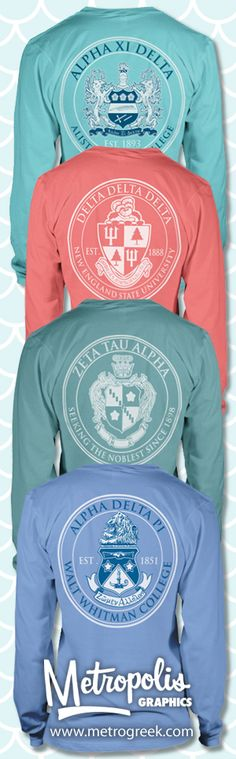 Sorority Crest Shirts. Love.