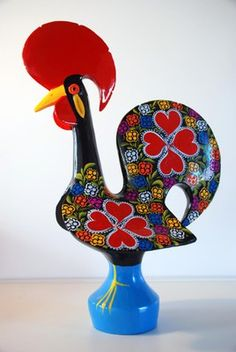 Barcelos Portugal Arte Popular, History Of Portugal, Chicken Painting, Rooster Decor, Crystal Glassware, My Roots, Portugal Travel, My Heritage, Dot Painting