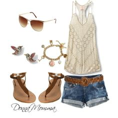 cute summer outfit, love these tops ☼