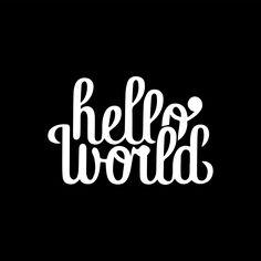 hello world typography