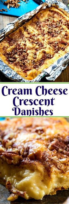 Cream Cheese Crescent Danishes- so easy to make from refrigerated crescent roll dough.