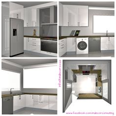 3D illustrations done for a client who wishes to make proposed kitchen renovations www.facebook.com/indecorconsulting 3d Illustrations, Conceptual Design, Kitchen Renovations, Stacked Washer Dryer, Home Appliances, Facebook, Storage, Furniture, Home Decor