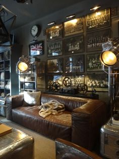 My basement must have dark wall Colors like this Restoration hardware. My basement must have dark wall Colors like this Industrial House, Industrial Interiors, Industrial Design, Industrial Windows, Industrial Farmhouse, Industrial Lighting, Industrial Chic, Industrial Bookshelf, Industrial Restaurant
