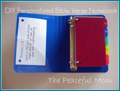 DIY personalized Bible verse notebook