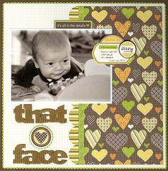 baby scrapbook layout or general child layout