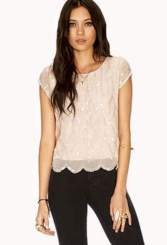 Dainty Sequined Blouse #F21CRUSH