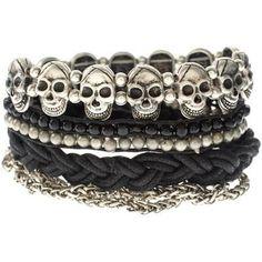 skulls bracelets.. so cute.