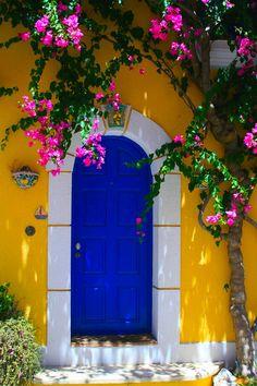 { blue door }