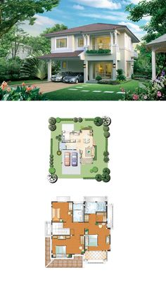 Home - layout. Modern House Plans, Small House Plans, House Floor Plans, 2 Storey House Design, Bungalow House Design, Architectural Design House Plans, Architecture Design, Home Building Design, Prefabricated Houses