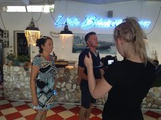 Making music video Taksim Accordion Netherlands in Italy.