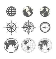 compass/earth tattoo