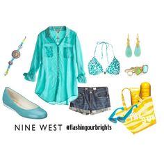 Nine West ~ #flashyourbrights  created by ubeufashion