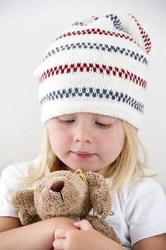 Pippi Longstocking hat, with inspiration from the sweater that Pippi wore.