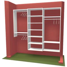 Closet Organizer AHE love the room underneath for shoes.