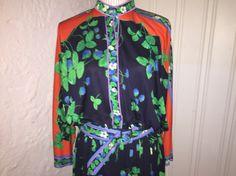 Vintage Leonard Paris kjole, vintage dress Leonard Paris, To My Mother, Stunning Dresses, Emilio Pucci, Vera Bradley Backpack, Henna, Vintage Dresses, Things To Sell, Design