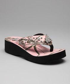 Camo Pink Realtree Flip Flop