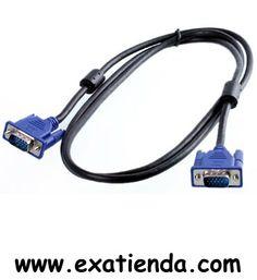 Ya disponible Cable vga 1.8m m/m   (por sólo 10.89 € IVA incluído):   -Cable VGA Macho/Macho 2 mts    Garantía de fabricante  http://www.exabyteinformatica.com/tienda/3506-cable-vga-1-8m-m-m #audio #exabyteinformatica