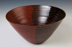 Holman Pottery  Apple Bowl in Red Earth design