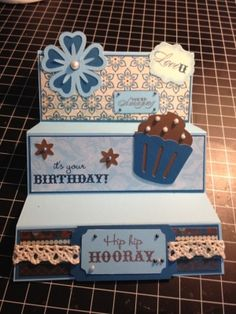 Birthday card using Close to my Heart products: Magnifique paper, stamps, and Art Philosophy Cricut cartridge. by jewel