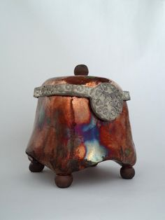 Raku Ceramic Box by Soley Inspired