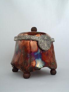 Raku Ceramic Box by Soley Inspired