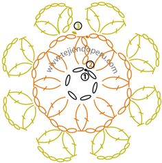 pastilla o motivo circular a crochet